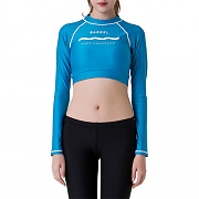 PANORAMA CROP RASHGUARD-AQUA BLUE