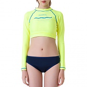 PANORAMA CROP RASHGUARD-N.YELLOW