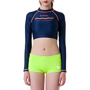 PANORAMA CROP RASHGUARD-NAVY