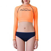 PANORAMA CROP RASHGUARD-PEACH