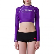 PANORAMA CROP RASHGUARD-PURPLE