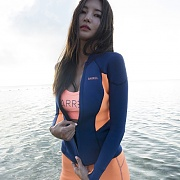 PLUMA NEOPRENE JACKET-NAVY-PEACH