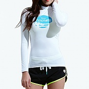SUNSET RASHGUARD-WHITE