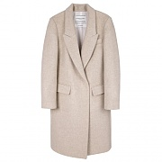 ANNA LONG COAT WOMAN-BEIGE