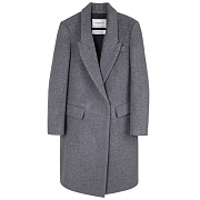 ANNA LONG COAT WOMAN-GREY