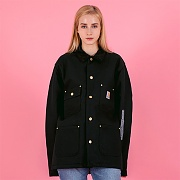 (C001)M DUCK CHORE COAT_BLK