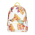 PIZZA PIE FACE BACKPACK - WHITE