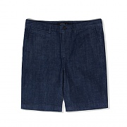 SLIM FIT BERMUDA SHORTS-RINSED DENIM