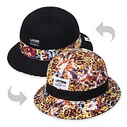 FLOWER LEOPARD BUCKET HAT-REVERSIBLE