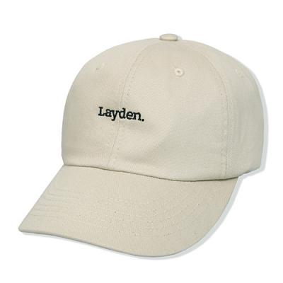 LOWER LOGO 6-PANEL CAP-BEIGE