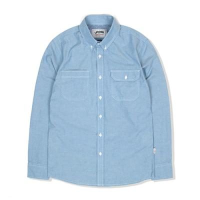 WORKER CHAMBRAY SHIRT-BLUE