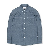 WORKER CHAMBRAY SHIRT-NAVY