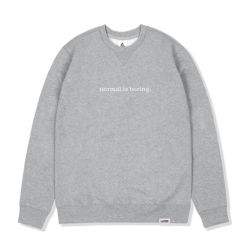 NORMAL IS BORING SWEATSHIRTS-GRAY