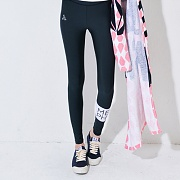 BAND WATER LEGGINGS-BLACK