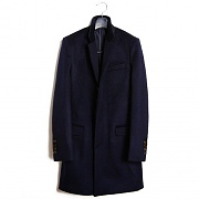 M#0257 NOTCHED LAPEL COAT - NVY