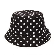MONO DOT BUCKET HAT (BLACK)