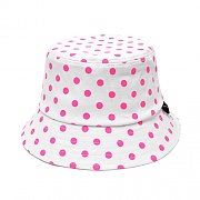 MONO DOT BUCKET HAT (CORAL PINK)