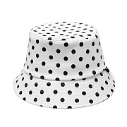 MONO DOT BUCKET HAT (WHITE)