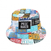 TAXI NUMBER PLATE BUCKET HAT (MULTI)