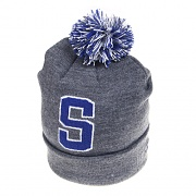 "ATHLETIC ""S"" POM-POM BEANIE-HGY"