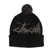 BIG STOCK POM BEANIE-BLK