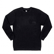 TONAL STOCK CREW-BLACK