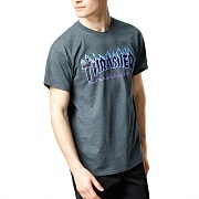 FLAME TEE-DARK HEATHER