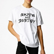 SKATE AND DESTROY T-SHIRT TEE-WHITE