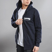 [소량재입고]THRASHER LOGO ZIP HOOD- NAVY