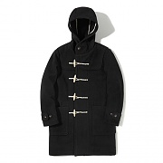 LONG DUFFLE COAT EA [BLACK]