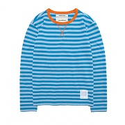 LONG SLEEVE BORDER T-SHIRT DA [BLUE]