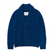 CABLE KNIT CARDIGAN ES [BLUE]