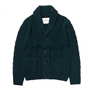 CABLE KNIT CARDIGAN ES [GREEN]