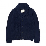 CABLE KNIT CARDIGAN ES [NAVY]