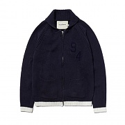SHAWL COLLAR KNIT ZIP UP ES [NAVY]