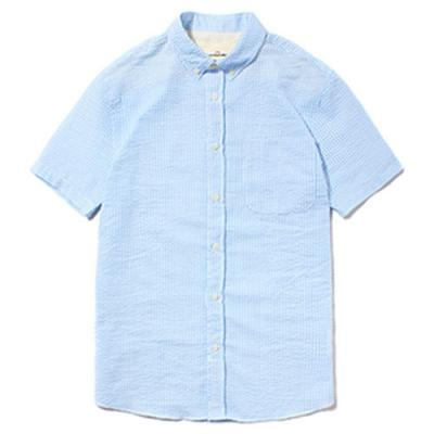 SHORT SLEEVE COTTON SHIRTS [C.BLUE]