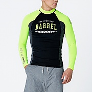 SWELL MEN RASHGUARD V3-N.YELLOW-BLACK-GREY