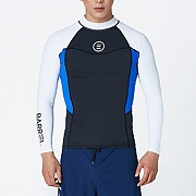 CIRCLE RASHGUARD-BLACK-WHITE