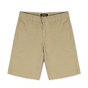 REGULAR FIT COTTON SHORTS-BEIGE