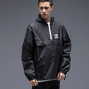 STOCK PACKABLE ANORAK PULLOVER-BLK
