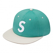 2-TONE WASHED S LOGO 6-PANEL-LIGHT GREEN
