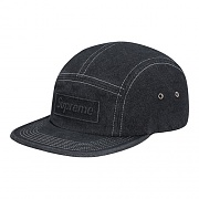 EMBOSSED STONE WASHED CAMP CAP-BLACK