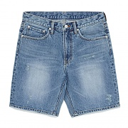 WASHED DENIM SHORTS FS [LIGHT BLUE]