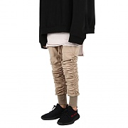 Shirring Jogger Pants-TAN