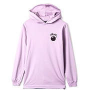 8 BALL STAMP LS HOOD TEE-PURPLE
