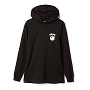8 BALL STAMP LS HOOD TEE-BLK