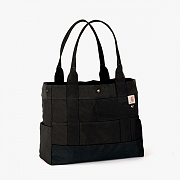 EAST WEST TOTE-BLK