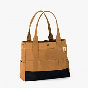 EAST WEST TOTE-BRN
