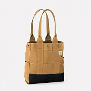 NORTH SOUTH TOTE-BRN