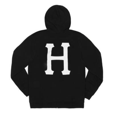 CLASSIC H PULLOVER FLEECE-BLK